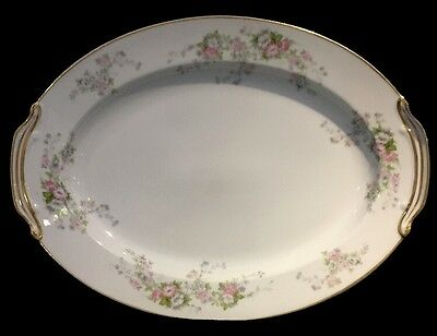 Rose China Made In Occupied Japan Large Serving Dish- Very Heavy