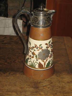 19Th Century Aesthetic Ceramic Large Claret Jug Probably English