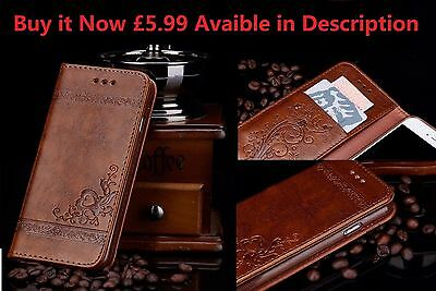Luxury Classic Leather Stand Back Cover Case Wallet Coffee for IPHONE 7 PLUS