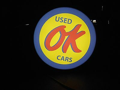 OK Used Cars Lighted Sign