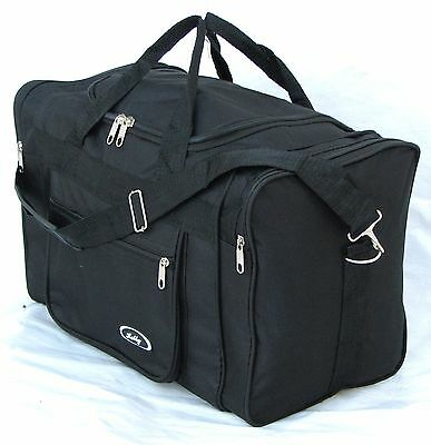 "21"" 40Lb. Capacity Black  Duffle Bag/ Gym Bag /luggage/ Carry On /suitcase /tote"