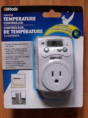Woods Indoor Temperature Controller for portable heaters/air conditioners TEMP10