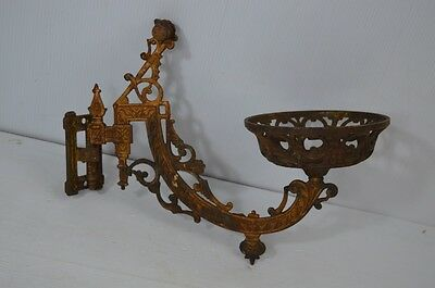 Antique Candle Wall Sconce Holder With Wall Bracket Ornate Vintage Gothic