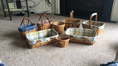 Longeberger Baskets set of 8. Smoke & pet free home. In great condition $200