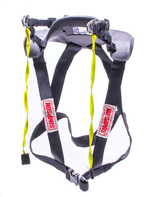 Simpson Hybrid Sport Head & Neck Restraint- Small - Post Clip Tether & Post Anch