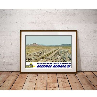 Beeline Dragway Poster - 1964 AHRA Winter National Drag Races Arizona