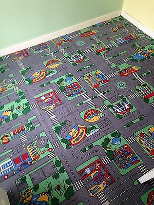 Children's Road Map Carpet 2.4m X 2.7m