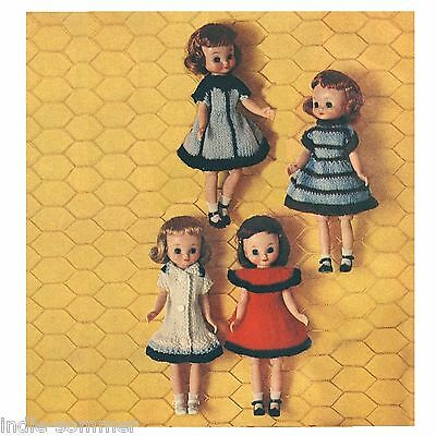 ~ Vintage Betsy McCall Doll Clothes Reproduction Knitting Pattern!