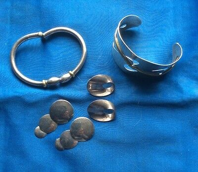 Sterling Silver.. Bracelets.. Earrings ...Scrap Or Wear