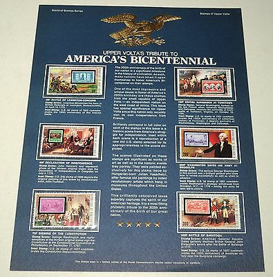 Stamps of Upper Volta America's Bicentennial Postage Collection Display Page MNH