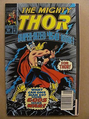 Thor #450 Marvel 1966 Series Flip Book reprints 1st app Loki Newsstand 9.2 NM-