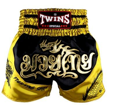 Twins Special Tbs - 2 Dragon Muay Thai/Boxing Shorts Size L