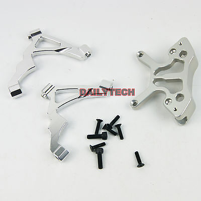 CNC Alloy Front Shock Tower Support fit HPI RV Baja 5B 5T DM Silver
