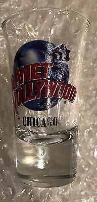 """planet hollywood shot glass """"Chicago"""""""