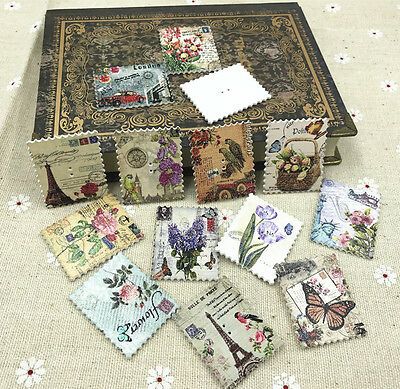 Stamp Wooden Buttons Flowers Tower landscape pattern Sewing Scrapbooking