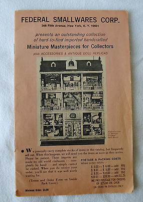 Federal Smallwares Dollhouse Furniture Catalog Vintage 1960s or 1970s