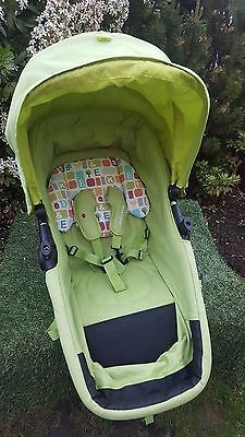 Mothercare My Choice My3 / My4  Seat Unit / carrycot frame lime green