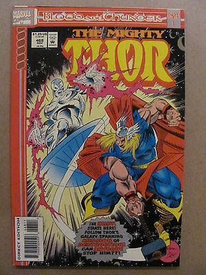 Thor #468 Marvel Comics 1966 Series Blood & Thunder Part 1 Silver Surfer app
