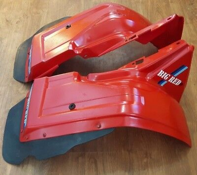 1984 Honda ATC200ES / ATC200E  / ATC200M Big Red rear fenders with mud flaps