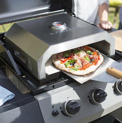 FIREBOX Portable Stainless Steel PIZZA OVEN / MAKER - Use with Gas/Charcoal BBQ