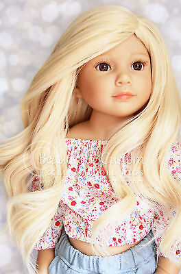 8-9 DOLL WIG Deluxe Blonde ~ Kidz n Cats, Wellie Wishers ~ HEAT SAFE 350! ©BC