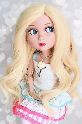 8-9 DOLL WIG Deluxe Blonde ~ Tonner Patience, SD BJD ~ Custom HEAT SAFE 350! ©BC