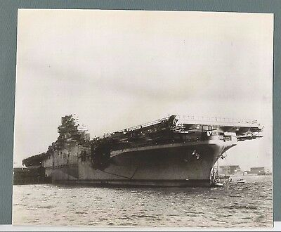 Vintage Press Photo 1945   Uss Antietam  Aircraft Carrier  #2026