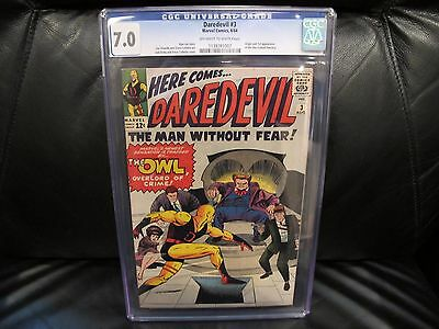 Daredevil #3 CGC 7.0 1st appearance of the Owl 1964 Stan Lee Marvel Comics