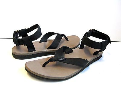 45d66943c5e4 Teva Original Ankle Strap Leather Diamond Women Sandal Black US10 UK8 EU41