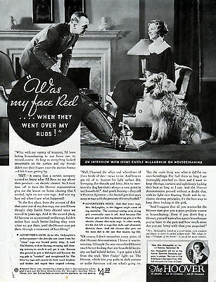 1934 Hoover Vacuum Cleaner Ad -Endorsed By Irene Castle McLaughlin----z1128