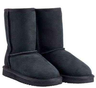 New In Box, Toasty Warm Ugg Boots, Black Size 6. Australian Sheepskin Slippers