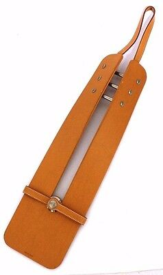 Authentic HERMES Necktie hanging rare Hanger leather (280450)