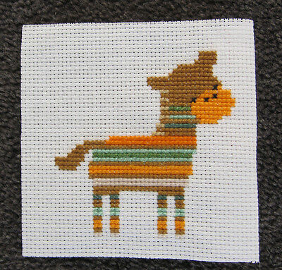 SHEEP lamb PIECE hand MADE AIDA CROSS STITCH colour CUTE animal ART diy CHILDREN