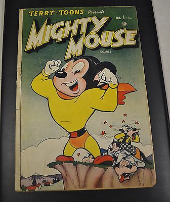 Authentic MIGHTY MOUSE # 1 OFF WHITE PAGES TIMELY 1946 COMIC Complete Good Cond