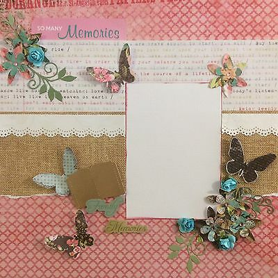 handmade scrapbook page 12 X 12 Family Memories Themed Layout