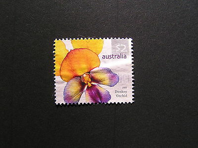 2006 Australian Wildflowers Definitive Series $2 Donkey Orchid Stamp Used