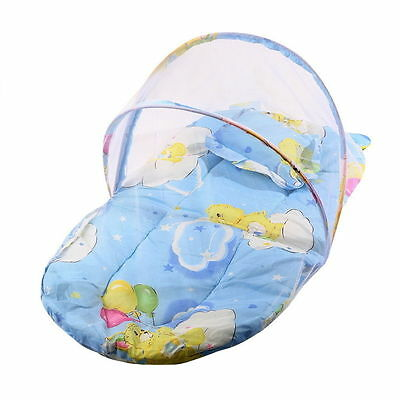 Foldable New Baby Cotton Padded Mattress Pillow Bed Mosquito baby mattress Blue