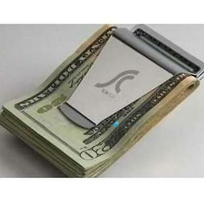 NEW Steel Slim Money Clip Double Sided Credit Card Holder Wallet DAD0