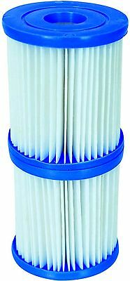 Bestway 3.1 x 3.5 inch Size 1 Filter Cartridge Twin 2 Pack Swimming Pool 8x9cm