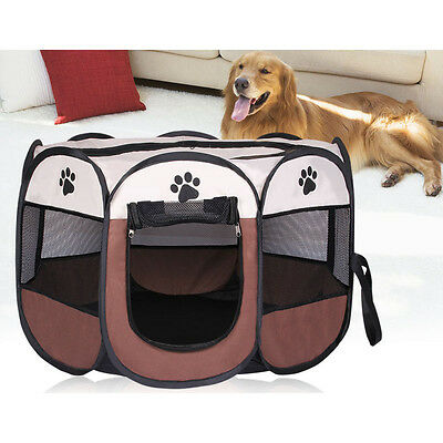 House Folding Dog Pet Bed Tent Portable Kennel Indoor Outdoor Puppy Large Cat