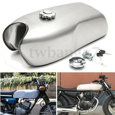 9L 2.4 Gallon Cafe Racer Motorcycle Gas Fuel Tank for Honda/Suzuki/Yamaha/BMW