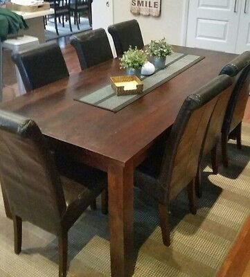Dining table solid timber and chairs Vast Interior