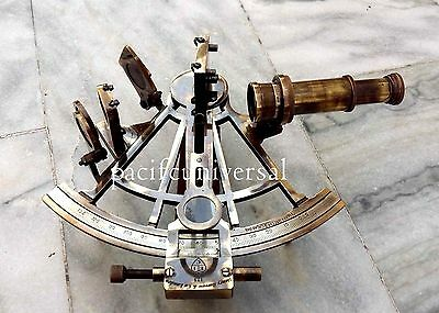 Solid Antique Ship Working Retro Sextant Collectible Old Navy Nautical Sextant .