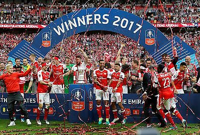Arsenal FC - FA Cup Winners 2017 - A1/A2/A3/A4 Poster / Photo Print