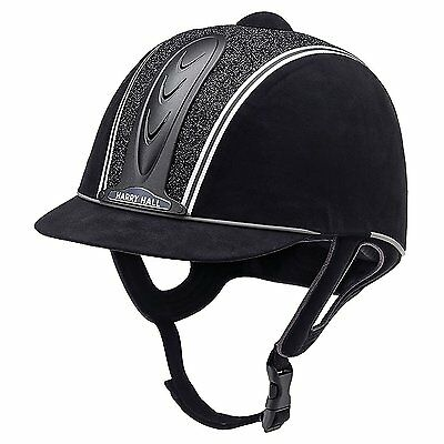BNWT - Harry Hall Legend Cosmos Riding Hat - Black - Size 54cm (6 5/8)