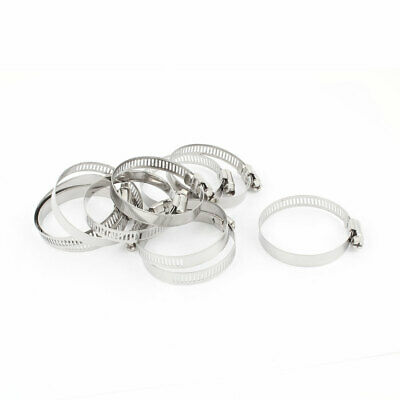 10 x 33mm-57mm Adjustable Stainless Steel Worm Drive Hose Ring Clamps