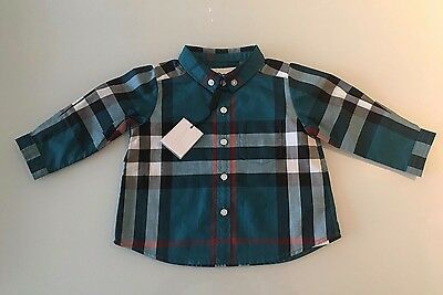 Burberry Children checked long sleeved shirt for boys aged 6 months