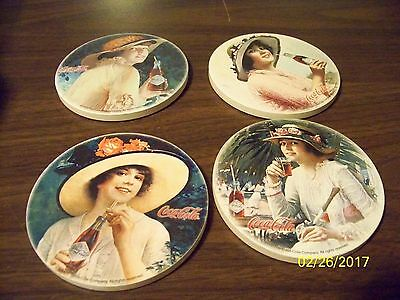 2002 Set of 4 Ceramic Coca Cola Coasters