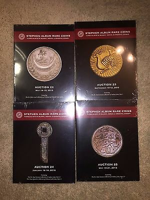 LOT of FIVE 5 Stephen Album Coin Auction Catalogues - Middle East Indian Asian
