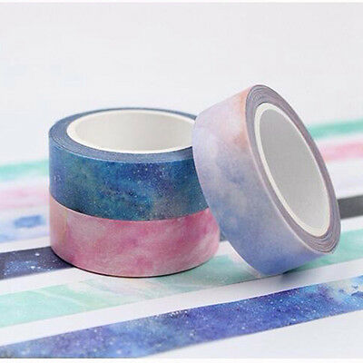 2017 Decorative Sticky Washi Paper Tape Scrapbooking Masking Decal DIY Craft New